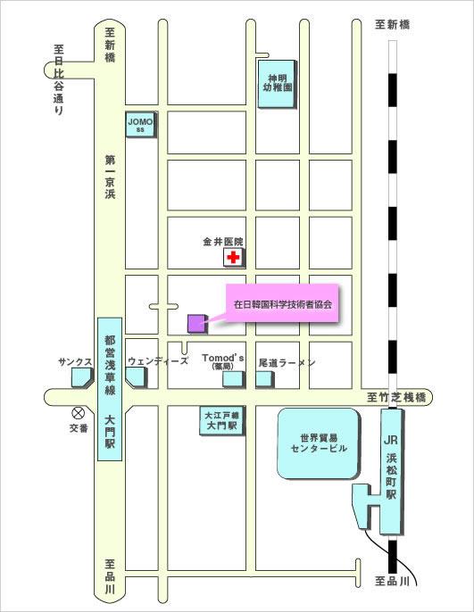 在日韓国科学技術者協会組織図